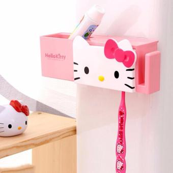 Hello Kitty Toothpaste and ToothBrush Holder - Pink Price Philippines