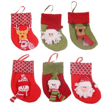 HengSong Christmas Sock Party Decoration Red - picture 2
