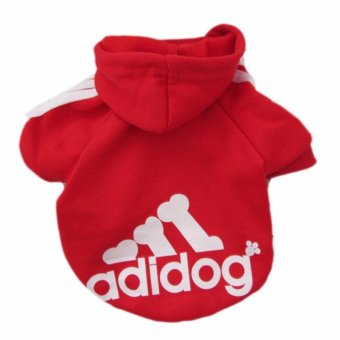 HengSong Dog Pet Cat Sweater Hoody Coat Jacket Puppy clothes L(Red)- intl
