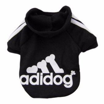 HengSong Dog Pet Cat Sweater Hoody Coat Jacket Puppy clothesXXL(Black) - intl