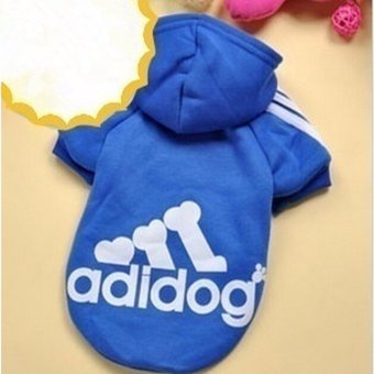 HengSong Dog Pet Cat Sweater Hoody Coat Jacket Puppy clothesXXL(Dark Blue) - intl