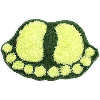 Hengsong Floor Bathroom Water Absorbent Mat (Green)