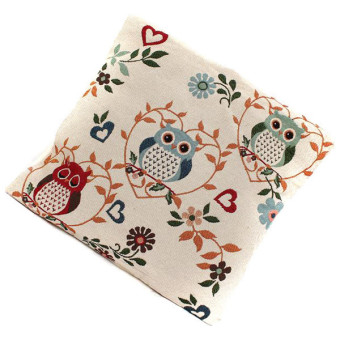 HengSong Owl Pattern Pillow Case (Multicolor) - picture 2