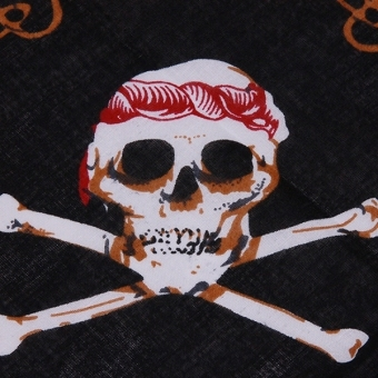 HengSong Pirates Skull Headscarf Halloween Costumes D (Black) - picture 2