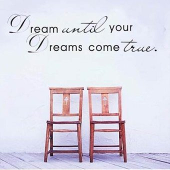 Hequ Until your Dreams come true Quote Home Decor Removable Wall Sticker - 3