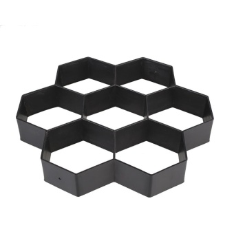 Hexagon Driveway Paving Pavement Stone Mold Stepping Pathmate Mould Paver - intl