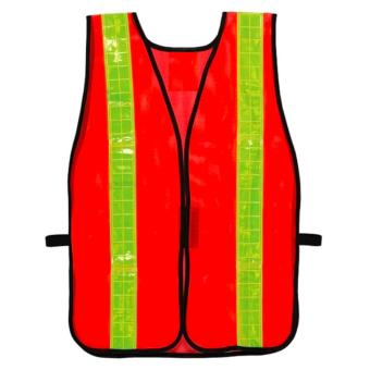 Hi-Viz Traffic Safety Vest with Reflector Orange with YellowReflector