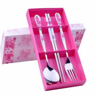 High-grade Stainless Steel Tableware 3 sets - Spoon, Fork, Chopsticks - 3