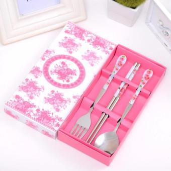 High-grade Stainless Steel Tableware 3 sets - Spoon, Fork, Chopsticks - 2