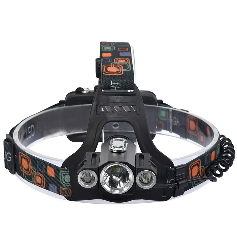 High Power Headlight LED Headlamp Cree XML T6 Waterproof 10000Lumens Light Rechargeable Head Lamps 4 Modes Zoomable - intl