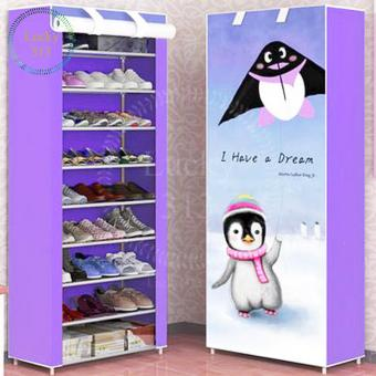 High Quality 10 Layers 3D Shoe Cabinet (penguin)