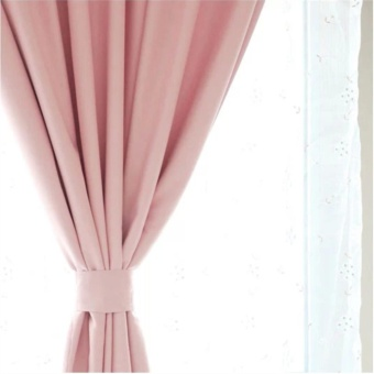High-quality Full Shading Blackout Curtains for Girl's Bedroom DoorWindow Curtain Room Decor Pink - intl