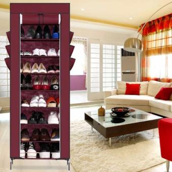 High Quality Multifunctional Shoe Shelf Storage 10 layers (Maroon)