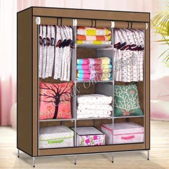 High Quality Multifunctional Wardrobe Storage Cabinet (Brown)