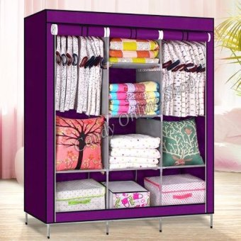 High Quality Multifunctional Wardrobe Storage Cabinet (Purple)