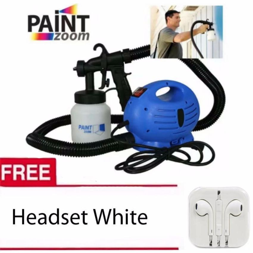 High Quality Paint Zoom Professional Electric Paint Sprayer Paint Gun(Blue)with Free Headset White