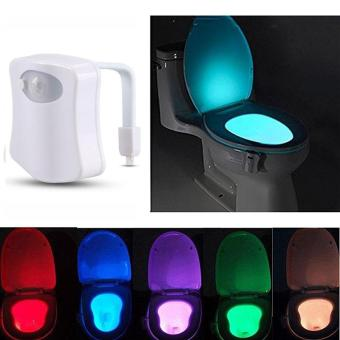 High Quality Store New 8 Color Body Sensing Automatic LED MotionSensor Toilet Bowl Night Light Lamp Magic