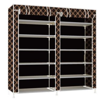 High Quality T-2712 Double Capacity 6 Layer Shoe Rack Shoe Cabinet Blues Clues (Chocolate)