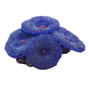 HKS Fake Coral Soft Disc Aquarium Decor Blue (Intl)