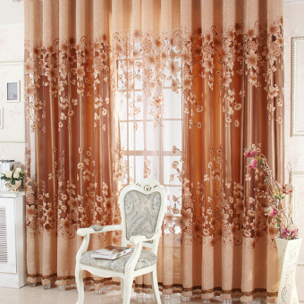 hks new sheer curtain panel drape floral window balcony room coffee intl - Sheer Curtain Panels