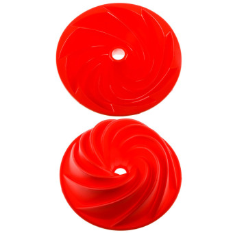 "HL Fancytoy 9"" Silicone Bundt Cake Pan Mold Red KitchenCookwarebaking Pans Mould Spiral - intl Price Philippines"