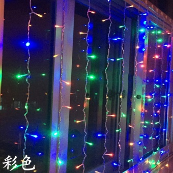 Holiday lights 300leds Curtain LED String Lights New Year Christmas decoration 220V EU plug Garlands Fairy Party Garden Wedding High Quality XR - intl