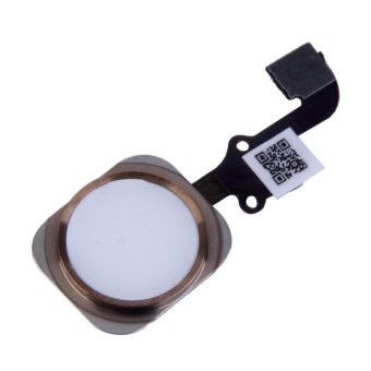 Home Button Flex Cable Touch ID Sensor Replacement Part For iPhone 6 4.7'' White&Gold