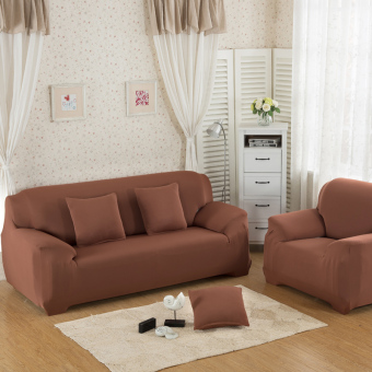 Home Furniture Chair Loveseat Sofa Couch Stretch Protect CoverSlipcover Light Tan 3 Seater