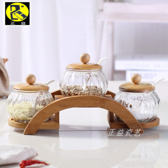 Home Glass Ceramic seasoning bottle seasoning box