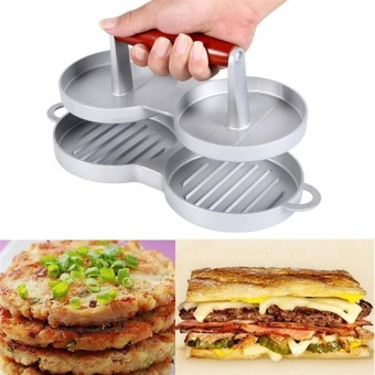Home Kitchen Nonstick Double Burger Press DIY Hamburger Meat CrabCakes Patty Maker Price Philippines