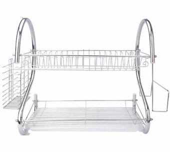 Home Kitchen S Shape Dish Drainer (2 Layer)