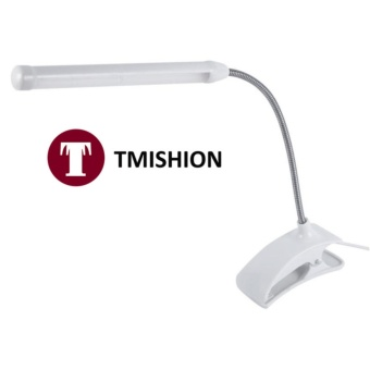 Home Living Desk Lamps Tmishion 1Pc Usb Light Clip-On Clamp BedTable Study Desk Reading Lamp (White) - intl Price Philippines
