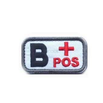 Home Military Tactics Blood Types Embroidered Velcro Hook B Patchcolor:Black - intl