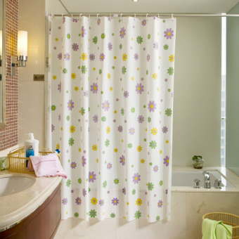 Home plastic waterproof anti-mold partition bathroom shower curtain