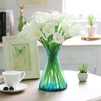 Home Wedding Garden Decor Artificial Fake Flower Calla lilyBouquet(White) - intl