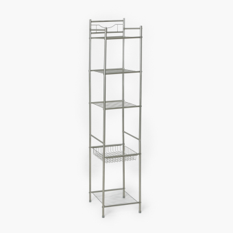 Home@Home 5-tier Tower Shelf (Nickel)