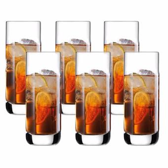 Homex Hi-Ball / Tumbler / Water Glass / JuiceGlass / Soda Glass /Cocktail Glass 370ml Glassware Set of 6 (Y8820)