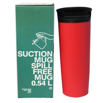Homu 0.54L Suction and Spill Free Mug (Red)