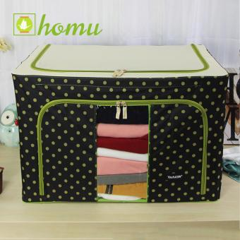 HOMU Clothes Blanket Storage Box Home Organizer 100L (Polka Black) Price Philippines