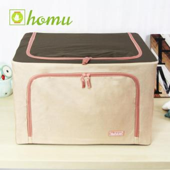HOMU Clothes Blanket Storage Box Home Organizer 66L (Denim Cream)