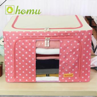 HOMU Clothes Blanket Storage Box Home Organizer 66L (Polka Pink) Price Philippines
