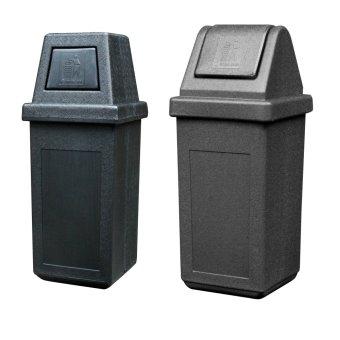 Hooded Bin King (Black) and Waste Master Medium (Black)