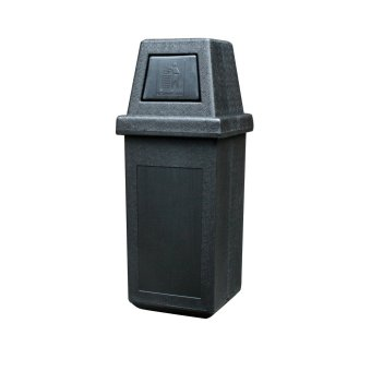 Hooded Bin Large (Black)