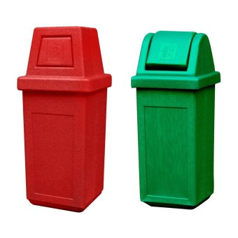 Hooded Bin Medium (Red) and Waste Master Small (Green)