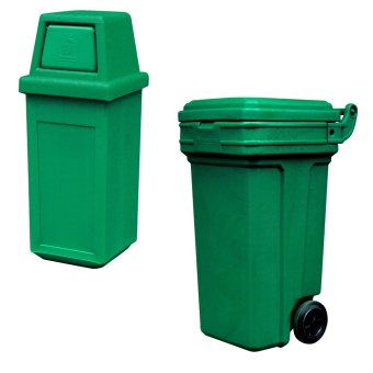 Hooded Bin Small (Green) and Roller King Large (Green)