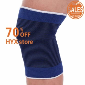 HOT SALE!!!Unisex 2 Knee Arthritis Gym Sports Pain Relief Elastic Brace Muscle Support Wrap Sleeve - intl