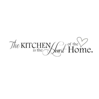 HOT!Removable Kitchen Heart Home Decal Wall Stickers Vinyl BathroomArt Decor - intl - 2
