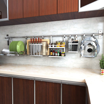 HouLySe Wall-mounted Stainless Steel Kitchen Rack