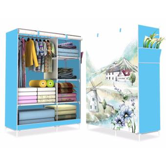 HS-6651 High Quality Cute 3D Design Wardrobe (WIND MILL Blue)