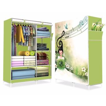HS-6651 High Quality Cute 3D Design Wardrobe(Music Girl Light Green)